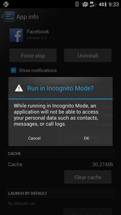 Cyanogenmod Incognito Mode Schutz Gegen Schnuffel Apps Kuketz It Security Blog