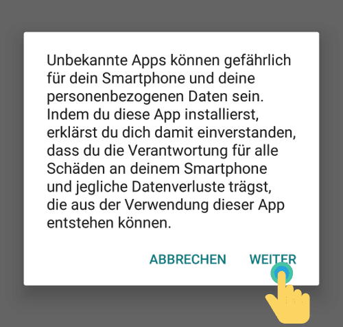 Unbekannte Apps